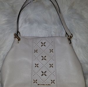 "MICHAEL KOR'S Leather Purse. 10"" Shoulder drop"